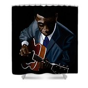 Grant Green Shower Curtain