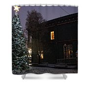 Grants Pass Town Center Christmas Tree Shower Curtain