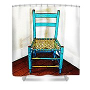Granular Blue Shower Curtain
