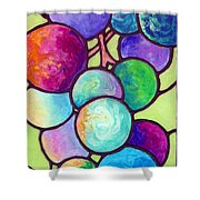 Grape De Chine Shower Curtain