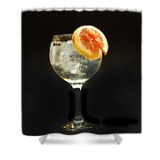 Grapefruit Gin Tonic Shower Curtain