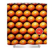 Grapefruit Slice Between Group Shower Curtain by Johan Swanepoel