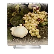 Grapes And Garlic Shower Curtain