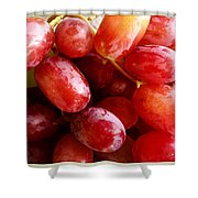 Grapes Shower Curtain by Les Cunliffe