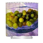 Grapes On The Half Shell Shower Curtain