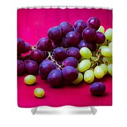 Grapes White And Red Shower Curtain