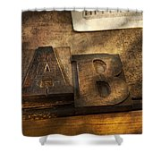 Graphic Artist - Ab Shower Curtain