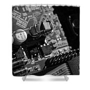 Graphic Card Shower Curtain