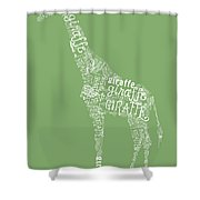 Graphic Giraffe Shower Curtain