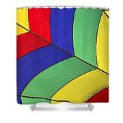 Graphic Hot Air Balloon Detail Shower Curtain