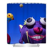 Graphic Hot Air Balloons Shower Curtain
