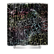 Graphic New York 3b Shower Curtain