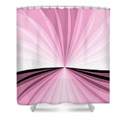 Graphic Pink And White Shower Curtain