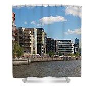 Grasbrookhafen Hamburg Hafencity Shower Curtain