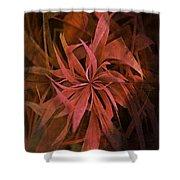 Grass Abstract - Fire Shower Curtain