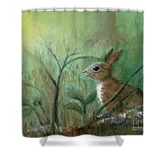 Grass Rabbit Shower Curtain