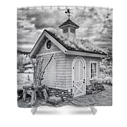 Grass Roof Shed Shower Curtain