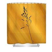Grass Silhouette Shower Curtain