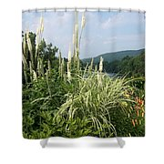 Garden Over A River Shower Curtain