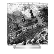 Grassi Locomotive, 1857 Shower Curtain