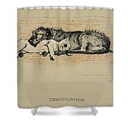 Gratification, 1930, 1st Edition Shower Curtain