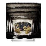 Grave Creek Covered Bridge Shower Curtain