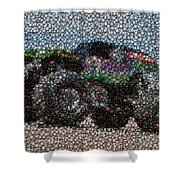 Grave Digger Bottle Cap Mosaic Shower Curtain by Paul Van Scott
