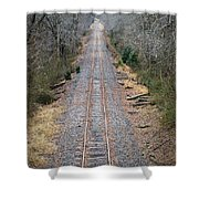Gravel And Steel Shower Curtain