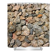 Gravel Stones Shower Curtain