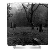 Graveyard 4 Shower Curtain