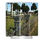 Graveyard Art Shower Curtain