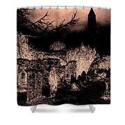 Graveyard At Night Shower Curtain