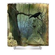 Graveyard Cross Shower Curtain