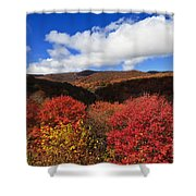 Graveyard Fields In The Mountains Shower Curtain