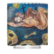 Graveyard Love Shower Curtain