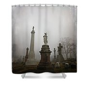 Graveyard Morning Shower Curtain