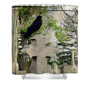 Graveyard Occupant Shower Curtain