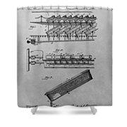 Graveyard Patent Shower Curtain