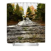 Laughing Whitefish Falls Shower Curtain