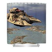Gravity Tank Shower Curtain