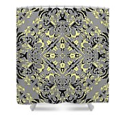 Gray And Yellow No. 1 Shower Curtain