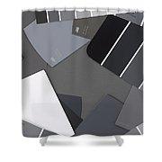 Gray Card Checker O Meter Shower Curtain