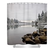 Gray Day In Lake Oswego Shower Curtain