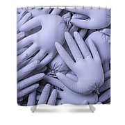 Gray Hands Shower Curtain