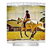 Gray In Air Shower Curtain