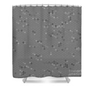 Gray Mosaic Shower Curtain