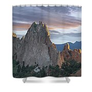 Gray Rock And South Gateway Rock Garden Shower Curtain