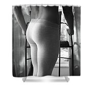Gray Tights Shower Curtain