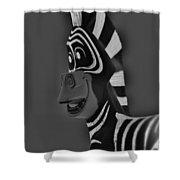 Gray Zebra Shower Curtain