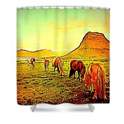 Happy To Be Grazing Again Shower Curtain